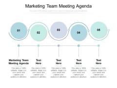 Marketing Team Meeting Agenda Ppt PowerPoint Presentation Layouts Example Cpb