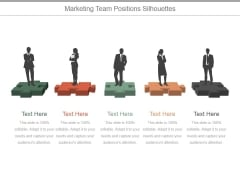Marketing Team Positions Silhouettes Ppt PowerPoint Presentation Outline