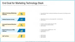 Marketing Technology Stack End Goal For Template PDF