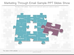 Marketing Through Email Sample Ppt Slides Show