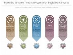 Marketing Timeline Template Presentation Background Images