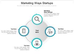 Marketing Ways Startups Ppt PowerPoint Presentation Inspiration Display Cpb Pdf