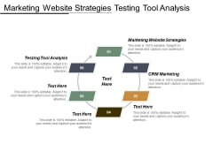 Marketing Website Strategies Testing Tool Analysis Crm Marketing Ppt PowerPoint Presentation Portfolio Smartart