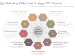 Marketing With Email Strategy Ppt Sample