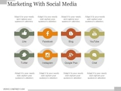 Marketing With Social Media Ppt PowerPoint Presentation Influencers