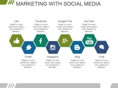 Marketing With Social Media Ppt PowerPoint Presentation Infographic Template Clipart