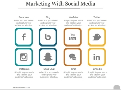 Marketing With Social Media Ppt PowerPoint Presentation Layout