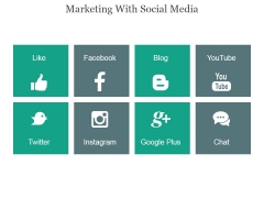 Marketing With Social Media Ppt PowerPoint Presentation Show