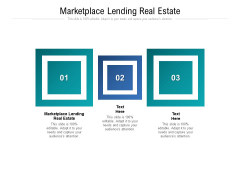 Marketplace Lending Real Estate Ppt PowerPoint Presentation Picture Cpb Pdf