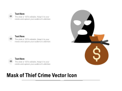 Mask Of Thief Crime Vector Icon Ppt PowerPoint Presentation Gallery Slides PDF