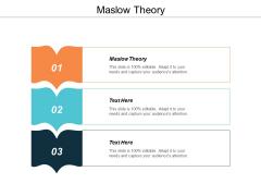 Maslow Theory Ppt PowerPoint Presentation Portfolio Ideas Cpb