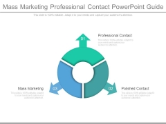 Mass Marketing Professional Contact Powerpoint Guide