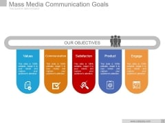 Mass Media Communication Goals Ppt PowerPoint Presentation Information