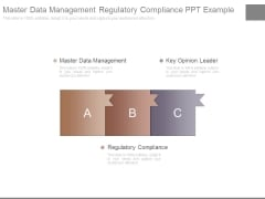 Master Data Management Regulatory Compliance Ppt Example