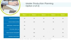 Master Production Planning Production Ppt Ideas PDF