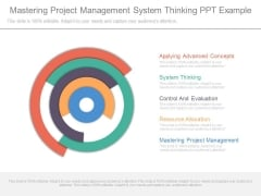 Mastering Project Management System Thinking Ppt Example