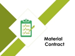 Material Contract Ppt PowerPoint Presentation Ideas Brochure