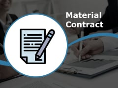 Material Contract Ppt PowerPoint Presentation Ideas Vector