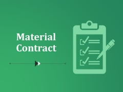 Material Contract Ppt PowerPoint Presentation Pictures Themes