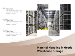 Material Handling In Goods Warehouse Storage Ppt PowerPoint Presentation Show Graphics Template PDF