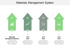 Materials Management System Ppt PowerPoint Presentation Layouts Slideshow Cpb