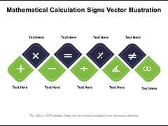 Mathematical Calculation Signs Vector Illustration Ppt PowerPoint Presentation Gallery Influencers PDF
