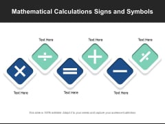 Mathematical Calculations Signs And Symbols Ppt PowerPoint Presentation File Infographics PDF