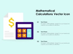 Mathematical Calculations Vector Icon Ppt PowerPoint Presentation Inspiration Files PDF