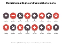 Mathematical Signs And Calculations Icons Ppt PowerPoint Presentation File Show PDF