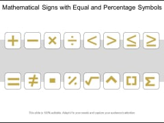 Mathematical Signs With Equal And Percentage Symbols Ppt PowerPoint Presentation Gallery Skills PDF