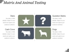 Matrix And Animal Testing Ppt PowerPoint Presentation Outline