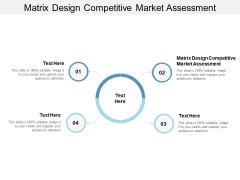 Matrix Design Competitive Market Assessment Ppt PowerPoint Presentation File Deck Cpb