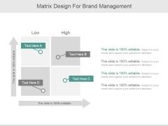 Matrix Design For Brand Management Ppt PowerPoint Presentation Tips