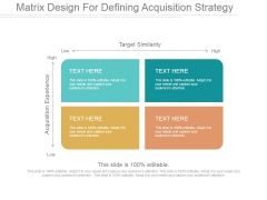 Matrix Design For Defining Acquisition Strategy Ppt PowerPoint Presentation Show