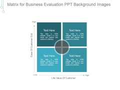 Matrix For Business Evaluation Ppt PowerPoint Presentation Background Designs
