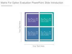 Matrix For Option Evaluation Powerpoint Slide Introduction
