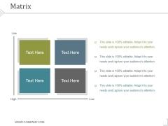 Matrix Ppt PowerPoint Presentation Backgrounds