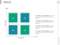 Matrix Ppt PowerPoint Presentation Deck