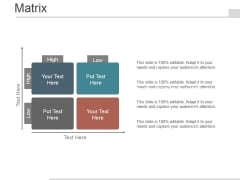 Matrix Ppt PowerPoint Presentation Examples