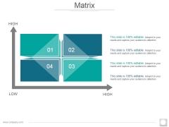 Matrix Ppt PowerPoint Presentation File Display