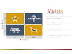 Matrix Ppt PowerPoint Presentation File Objects