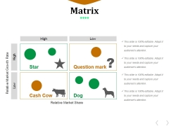 Matrix Ppt PowerPoint Presentation Gallery Visual Aids