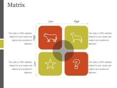 Matrix Ppt PowerPoint Presentation Icon Themes