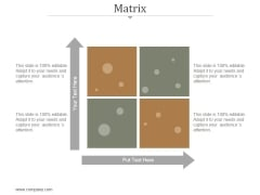Matrix Ppt PowerPoint Presentation Infographics