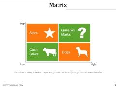 Matrix Ppt PowerPoint Presentation Inspiration Example