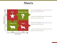 Matrix Ppt PowerPoint Presentation Inspiration Graphic Tips