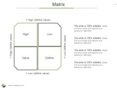 Matrix Ppt PowerPoint Presentation Outline Introduction