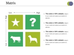 Matrix Ppt PowerPoint Presentation Pictures Objects