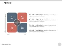 Matrix Ppt PowerPoint Presentation Portfolio