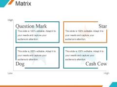 Matrix Ppt PowerPoint Presentation Sample